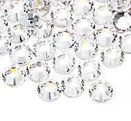 Transparent White Diamond China World Trade Center A flat Drill DIY Paste Drilling Accessories Bride Manicure Drill