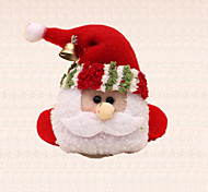 1pc Bell Santa Claus Head Wine Goblet Mat Cup Coaster Christmas Table Decoration Party Dinner Supplies