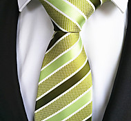 New Green Striped Men's Tie Formal Suit Necktie Wedding Holiday Gift TIE0010