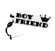 Boyfriend LOGO Mark Phone Dust Plug