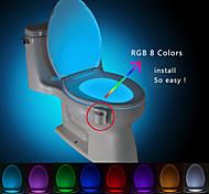 BRELONG Motion Activated Toilet Nightlight, LED Toilet Light Bathroom Washroom