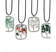 Gargantillas Collares con colgantes Joyas Diario / Casual Moda Acero inoxidable / Gema Colores Surtidos / Verde Claro / Blanco / Verde1