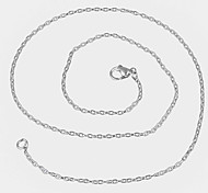 Necklace Chain Necklaces Jewelry Daily / Casual Fashion Titanium Steel Silver 1pc Gift