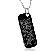 Men's Fashion Bible Style Steel Pendant for Necklace