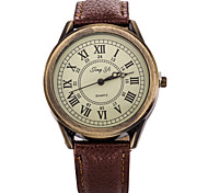 Men/Lady's White Case Analog Quartz  Leather Dress Watch for Party
