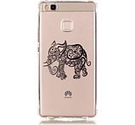 Para Funda Huawei / P9 / P9 Lite / P8 Lite Diseños Funda Cubierta Trasera Funda Elefante Suave TPU HuaweiHuawei P9 / Huawei P9 Lite /