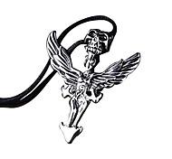 личность титана черепа подвеска крылья ретро мужские ожерелье