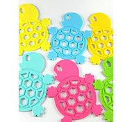 Cute Little Cartoon Turtle Paragraph Silicone Mat Coasters 5Pcs