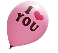 hochwertige Latexballons (pink) iloveyou Ballon