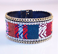 National Wind Bracelet With Exquisite Embroidery Suction Automatically Magnetic Clasp Bracelet For Women