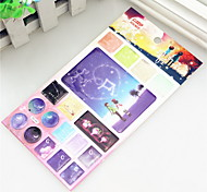 Star Crown Constellation Patterns Surrounding Animation Around Star Stamp Card Jelly Card Affixed Stickers