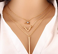 Necklace Choker Necklaces / Chain Necklaces / Layered Necklaces Jewelry Daily / Casual Fashionable Alloy Gold / Light Blue 1pc Gift