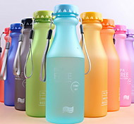 Frosted Plastic Portable Bottle