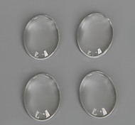 Beadia 30Pcs 13x18mm Flat Oval Clear Glass Cabochon For Earring Bracelet Necklace Jewelry Making