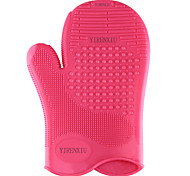 Silicone Makeup Brush Cleaner Washing Scrubber Board Cosmetic Cleaning Glove Beauty Tools
