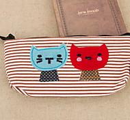saco de papelaria cartoon têxtil gato