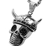 corne pirate collier pendentif en titane