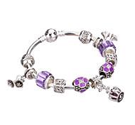 Femme Filles´ Charmes pour Bracelets Bracelets Rigides Manchettes Bracelets Bracelets de rive Bracelets en ArgentStrass Plaqué argent