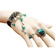 Vintage Flower Rattan Crystal Lace Bracelet Elegant