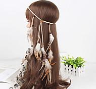 женские простой павлин перо бисера кулон ободки переплетения 1 шт