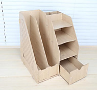 Wooden Storage Box Cosmetics Bookshelf Magazine Shelf Data