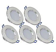 3W Downlight de LED 270 lm Branco Quente / Branco Frio SMD 5730 AC 85-265 V 5 Pças.