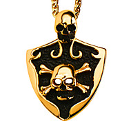 Pendants Metal Square Shape / Bowknot Shape / Skull shape / Number Shape Golden / Black 50