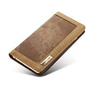 iphone 7 plus stand luxe jean flip portefeuille + étui en cuir véritable pour iPhone 6s 6 plus soi 5s 5