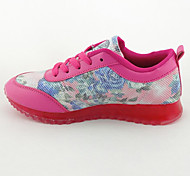 Velvet Rubber Candy-colored Floral Mesh Leisure Woman Casual Shoes