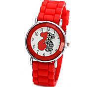 Unisex-Uhr winnie der Brief Süßigkeiten Farbe Silikon-Sport-Uhren Kinder beobachten Kinder Uhr