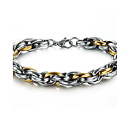 Men's Hight Quality Titanium Steel Silver/Gold Chain Bracelet Christmas Gifts