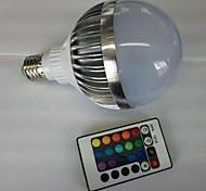 E27 85V-265V 700-900Lm 10W RGB Remote Control LED Colorful Bulbs