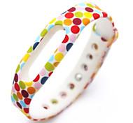 piezas de recambio de la correa de pulsera pulsera para mi banda (ondas multicolores)