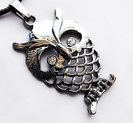 Man Necklace, Stainless Steel Accessories - Owl