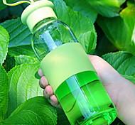 Pure Color Transparent Glass Water bottle