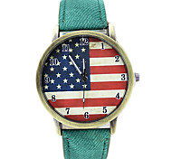 Unisex Flag Pattern Casual Quartz Wrist Watch