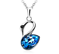 Women's Austrian Crystal Swan Shape Pendant for Necklace