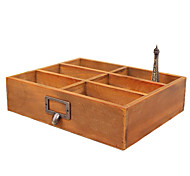 Zakka Wooden Desktop Debris Storage Box Small Object Storage Box Office Desk Coffee Table Remote Box Wooden Box