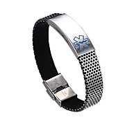 Fashion Medical Mark Stainless Steel Bracelets