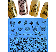 1pcs New Nail Art Lace Sticker Flower Butterfly Cartoon Heart Design Nail Beauty STZ-V036-040