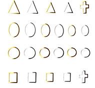 100 Piece Metal Frame Nail Art Decoration Random Shape Random Color Random Size