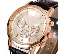 Men's Dress Watch Fashion Watch Wrist watch Casual Watch Quartz Leather Band Cool Black Brown