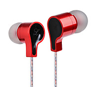 Ear Headset With Microphone Wire Ear Metal Music Red DT-213