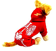 Cat / Dog Costume / Clothes/Jumpsuit Red / Blue Winter / Spring/Fall Skulls Halloween, Dog Clothes / Dog Clothing
