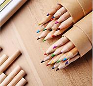 Kraftpapier Briefpapier Korea barreled 12 Farbbleistiftspitzer mit Deckel montiert Farbe Blei Zeichnung