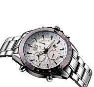 Classic Business Sports Male Men New Listing Quartz Wristwatch Full Stainless Steel Waterproof Calendar Fashion Watch