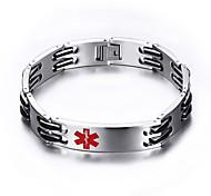 pulseiras de aço titânio moda simples marca médica