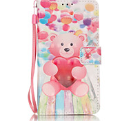 PU Leather Material 3D Painting Balloon Bear Pattern Phone Case for Samsung Galaxy J5/J510/J3/J310/G360/G530