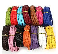 beadia 7мм плоский плетеный пу кожаный шнур веревочки для поделок ювелирных изделий ожерелье браслет ремесла решений (5mts)