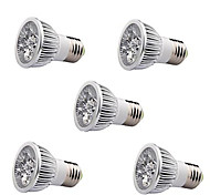 5W E26/E27 LED Spot Lampen / PAR Lampen MR16 1 High Power LED 350-400 lm Warmes Weiß AC 85-265 V 5 Stück